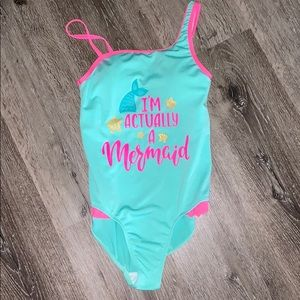 I'm Actually a Mermaid Girls Size 10/12 One-Piece